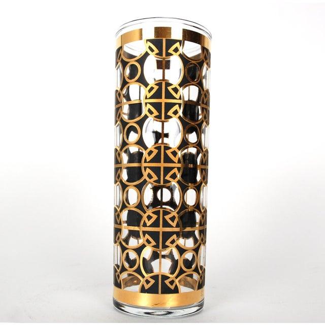 Vintage Gold Tom Collins Glasses - Set of 8 - Image 3 of 7