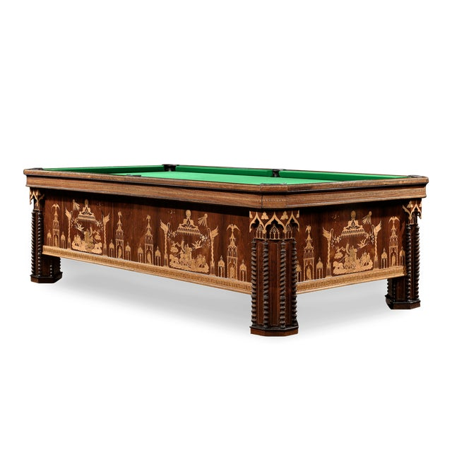 Green French Gothic Revival Billiard Table For Sale - Image 8 of 8
