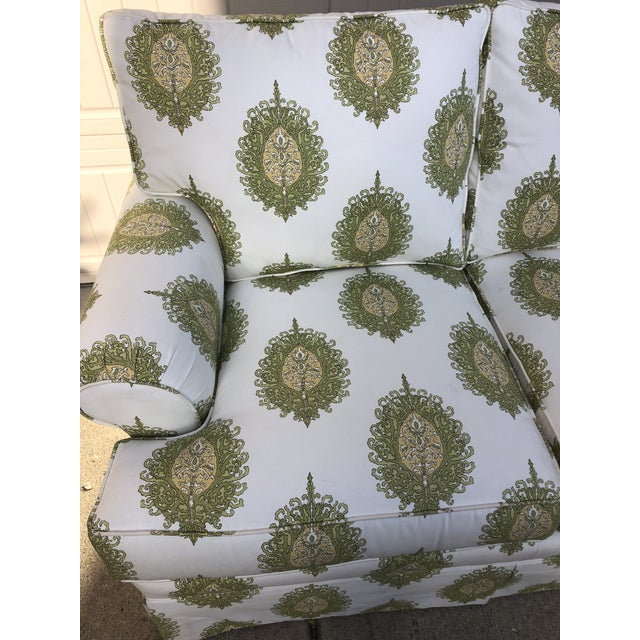 Shabby Chic Modern Upholstered Ikat Print Sofa by Century Furniture For Sale - Image 3 of 13