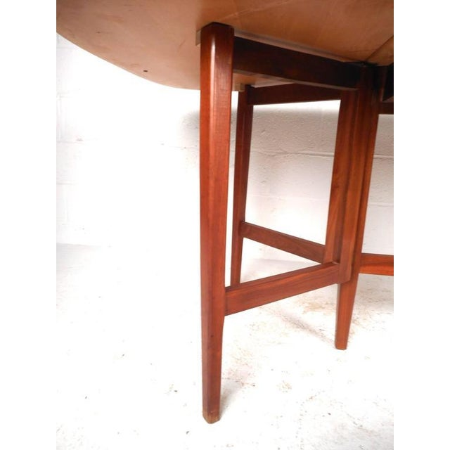Mid-Century Modern Gate Leg Dining Table For Sale - Image 5 of 9