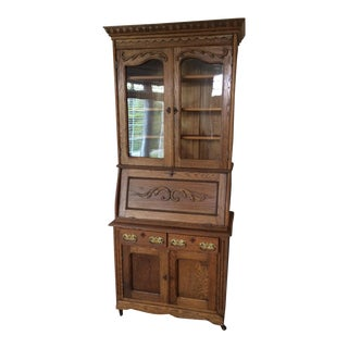 Antique Victorian Secretary Desk & Cabinet