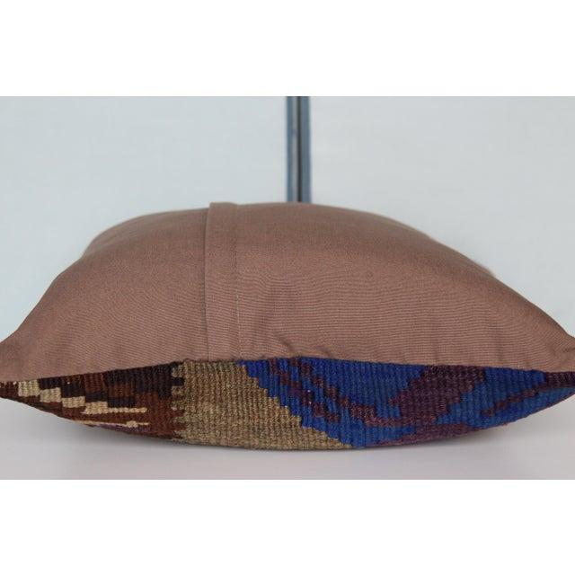 Textile Vintage Turkish Kilim Decorative Handmade Pillow Cover For Sale - Image 7 of 8