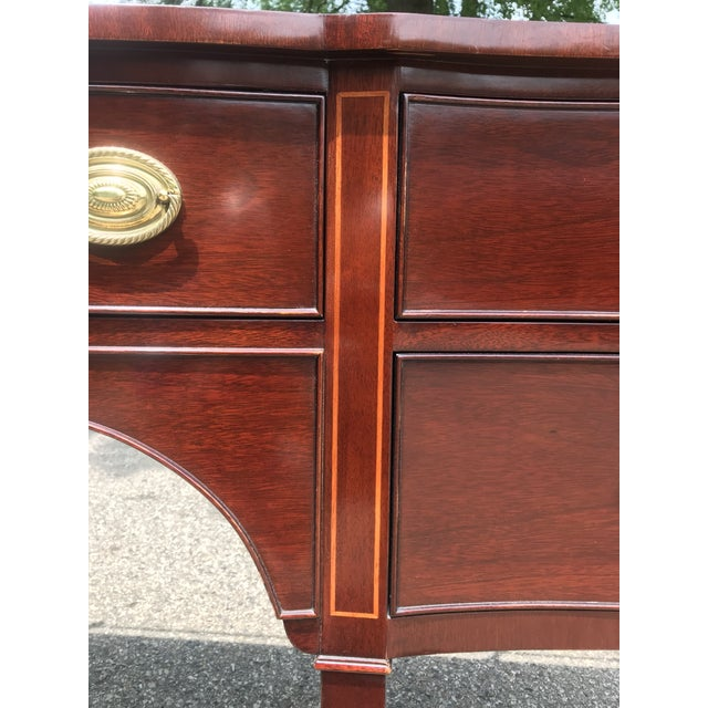 Wood Traditional Cherry Side Board by Kindel For Sale - Image 7 of 11