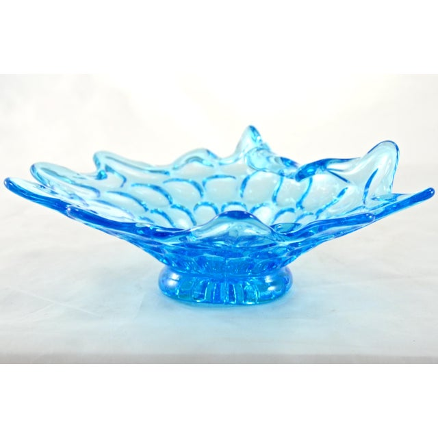 Mid-Century Aqua Stretch Bowl - Image 2 of 5