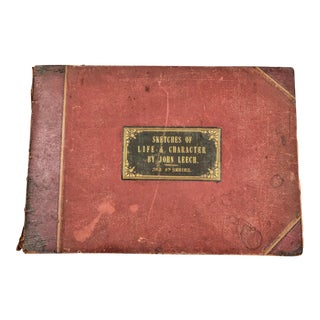 Antique - Pictures of Life & Character Book by John Leech For Sale