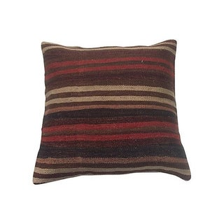 Striped Kilim Floor Pillow For Sale