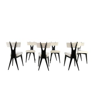 Set 6 Chairs by Gianni Vigorelli For Sale