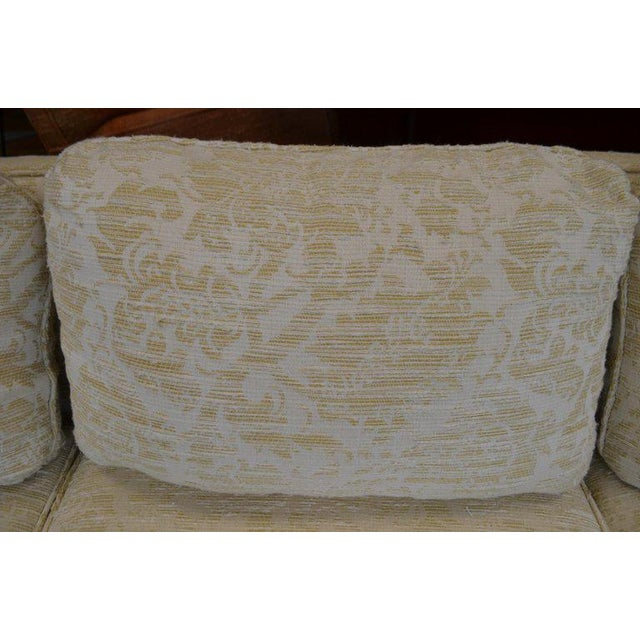 White Sofa From Flair Midcentury in Blended Cotton Felt For Sale - Image 8 of 13