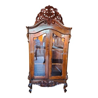 19th Century French Armoire Glass Display Case For Sale