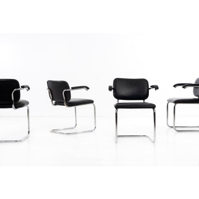 Knoll Set of 12 Marcel Breuer Dining Chairs For Sale - Image 4 of 11
