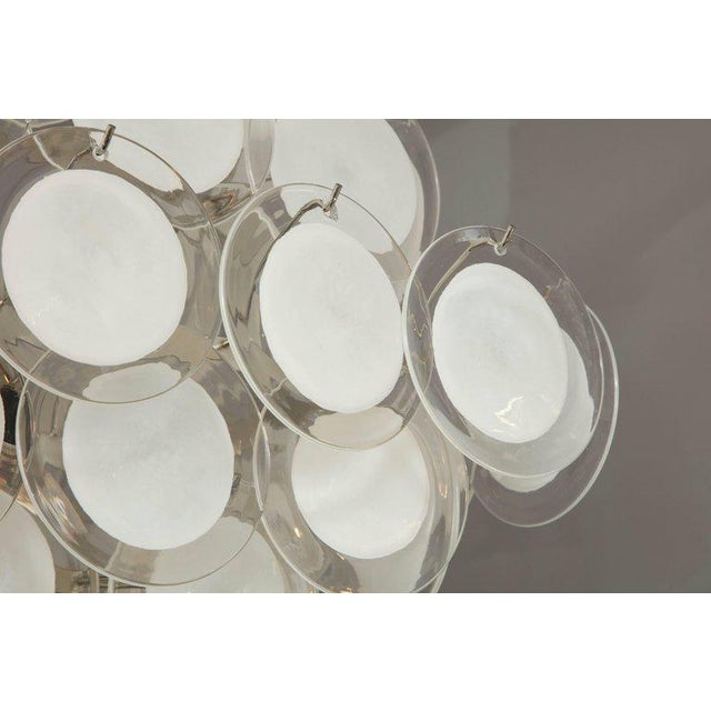 Murano Glass Disc Chandelier For Sale In New York - Image 6 of 10