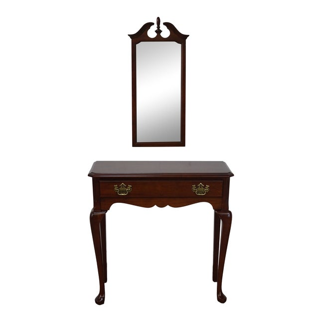 Penn House Cherry Traditional Console & Mirror Set - Image 1 of 10