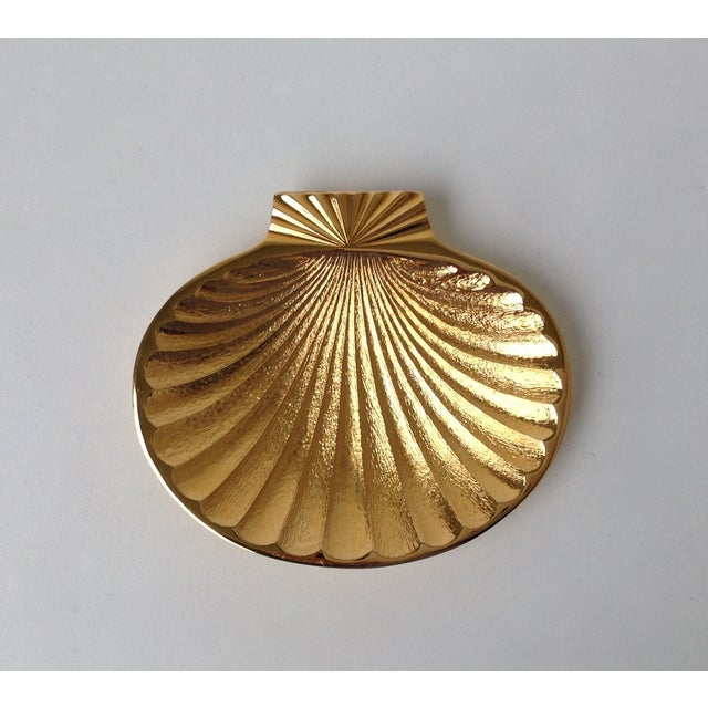 Gold Plated Fanned Shell-Shape Ring Dish - Image 7 of 11