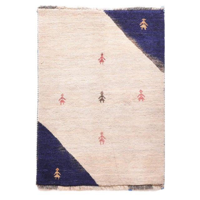1960s Persian Gabbeh Rug-2′7″ × 3′9″ For Sale