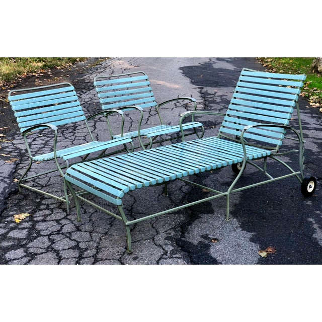 Mid Century Modern Patio Furniture Set Lounge & Chairs For Sale - Image 12 of 13