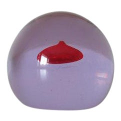 Antonio Da Ros for Cenedese Purple Alexandrite Sommerso Glass Paperweight For Sale