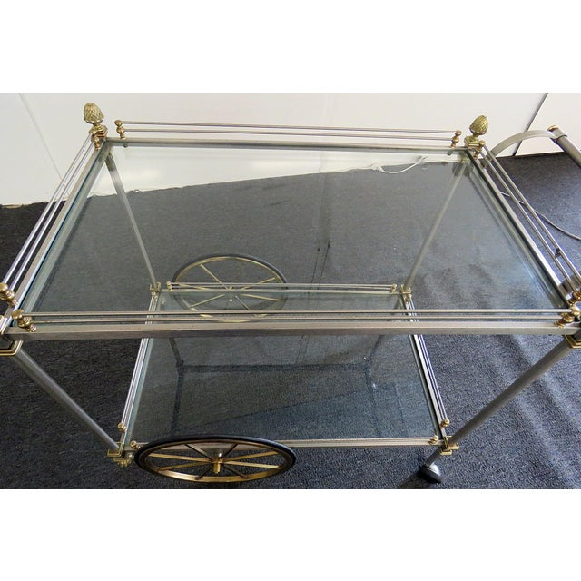 Mid 20th Century Regency Style Bar Cart For Sale - Image 9 of 10