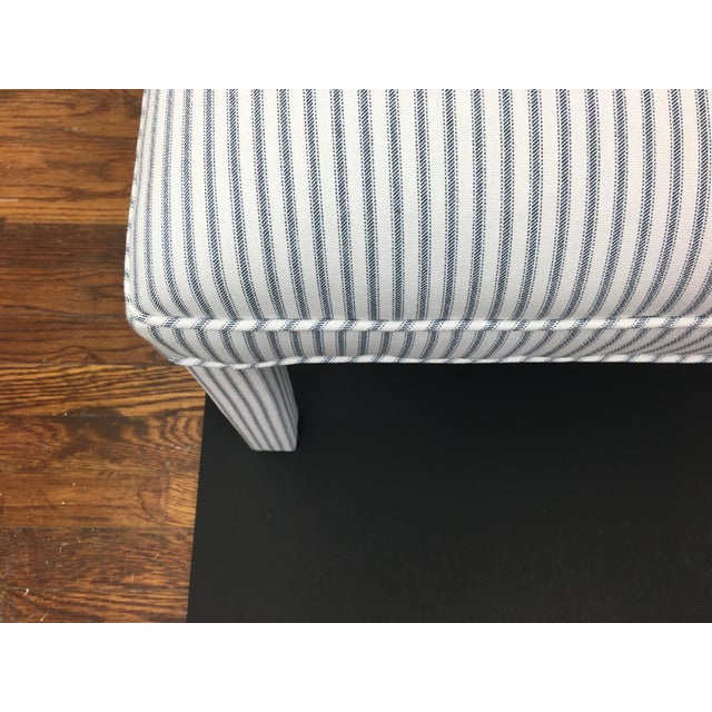 Parker Upholstered Bench in Ticking Stripe - Image 3 of 5