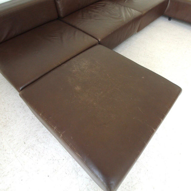 Harvey Probber Leather Cubo Sectional Sofa For Sale In Los Angeles - Image 6 of 7