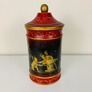 Vintage Italian Decoupage Canister Preview