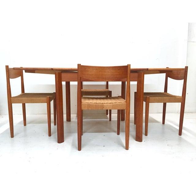 1960s Danish Mid-Century Modern Teak Dining Set - Image 5 of 11