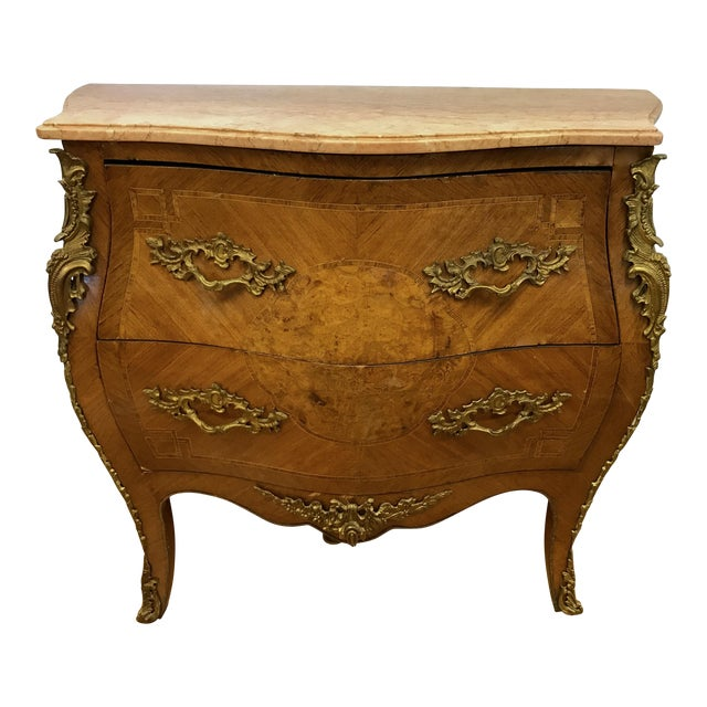 French Louis XV Marquetry Commode For Sale