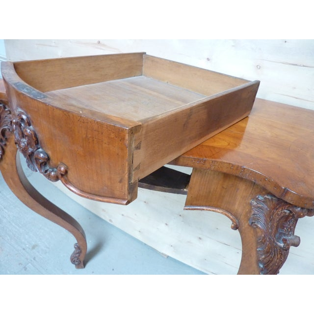 19th Century Rococo Fruitwood Wall Console For Sale - Image 4 of 6