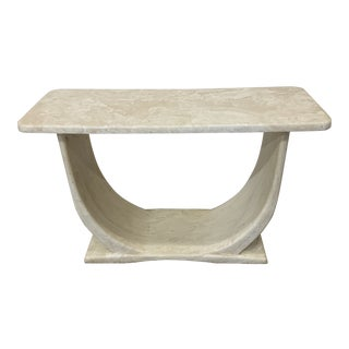 Cultured Marble Console Table For Sale
