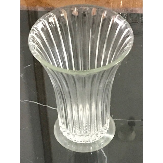 Anchor Hocking Anchor Hocking Fluted Glass Vase For Sale - Image 4 of 7