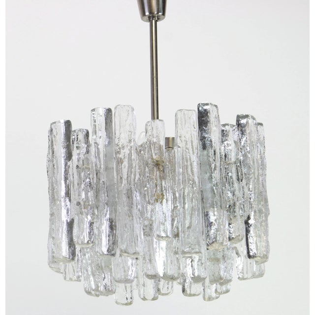 1960s Large Murano Ice Glass Chandelier by Kalmar, Austria, 1960s For Sale In New York - Image 6 of 9