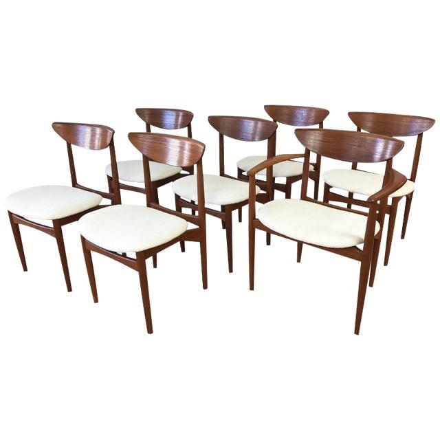 Set of 7 Uncommon Hvidt and Mølgaard-Nielsen Teak Dining Chairs for Søborg Møbelfabrik - Image 1 of 10
