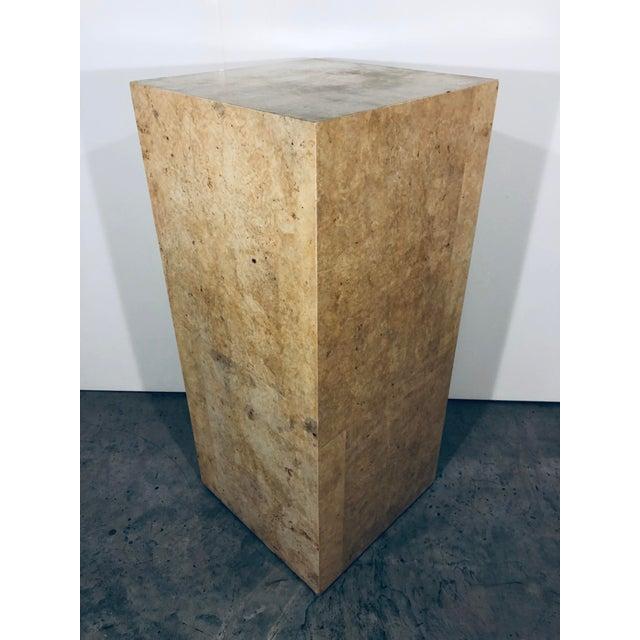 1970s Karl Springer Style Decorative Parchment Display Pedestal For Sale - Image 5 of 13