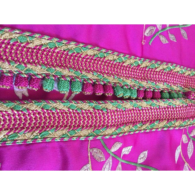 Gorgeous Moroccan Caftan in Hot Pink Fuchsia Maxi Dress Kaftan For Sale - Image 10 of 13