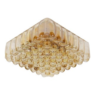Bubble Amber Tone Flush Mount For Sale