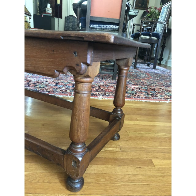 Antique French Henry II Style Walnut Low Boy Coffee Table For Sale - Image 9 of 13