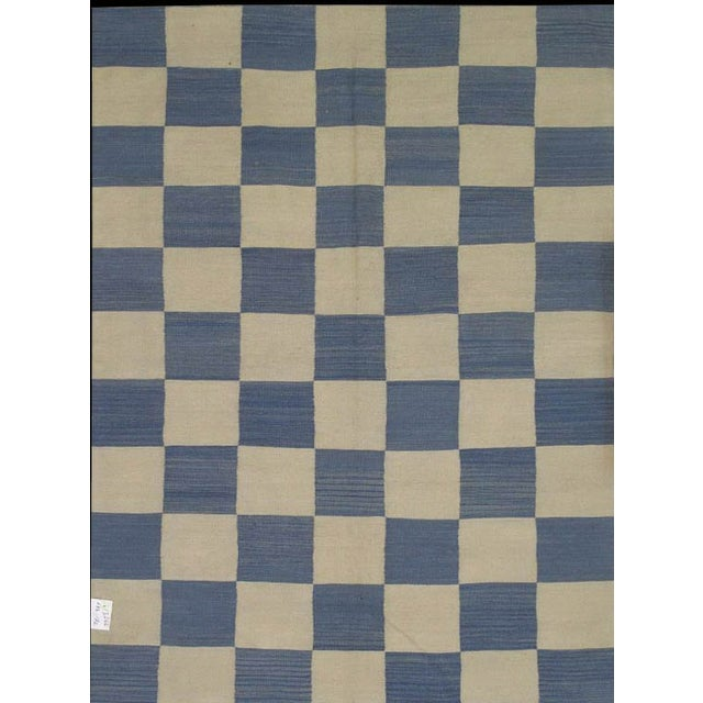 "Pasargad Art-Deco Style Wool Kilim - 5'7"" X 7'5"" - Image 1 of 2"