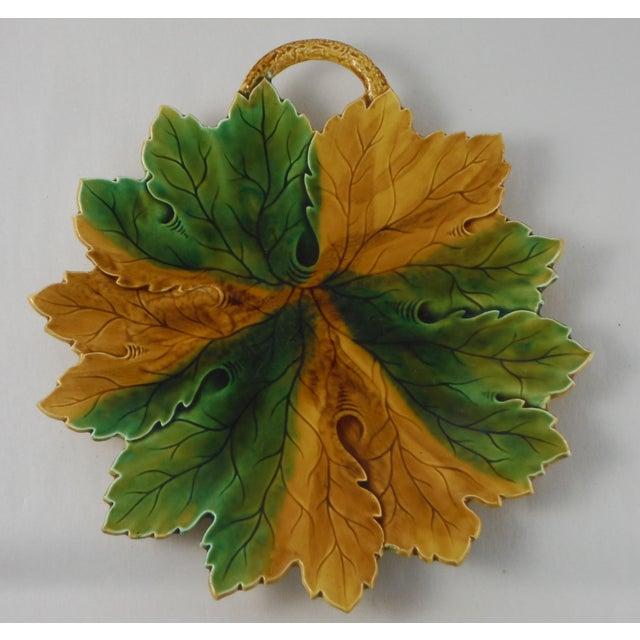Majolica Leaf Platter - Image 2 of 3
