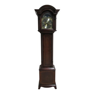 James Stewart Son Inlaid Grandfather Clock For Sale