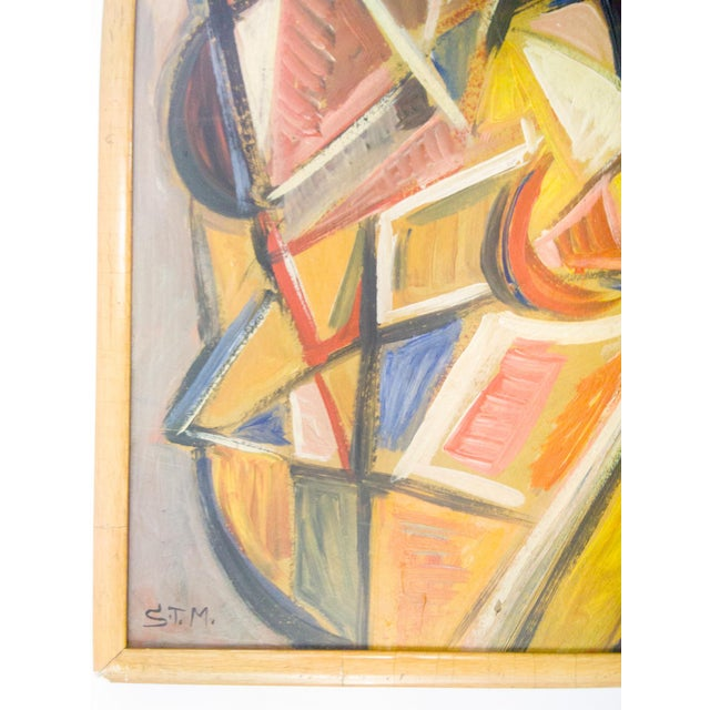 Abstract Cubist Portrait of Nude Female Painting by STM For Sale - Image 3 of 7