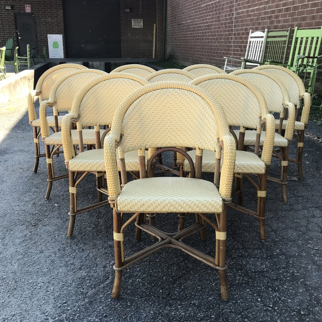 Authentic French bistro armchairs made by hand in France at Maison Gatti. The epitome of French cafe life! We have ten...