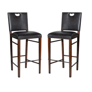 Wood Bar-Height Chair - A Pair For Sale