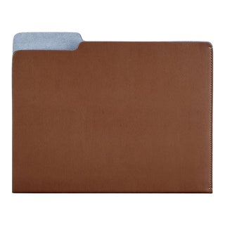 File Folder, Bonded Leather in Tan For Sale