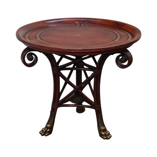 Maitland-Smith Regency-Style Round Table For Sale