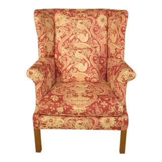 Greenbaum Custom Upholstered Wingback Easy Chair