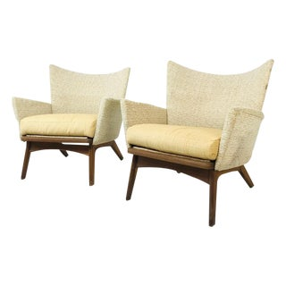 Rare Sculptural Pair of Adrian Pearsall Lounge Chairs For Sale