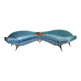 Mid Century Modern Karpen of California Sectional Sofa Couch For Sale