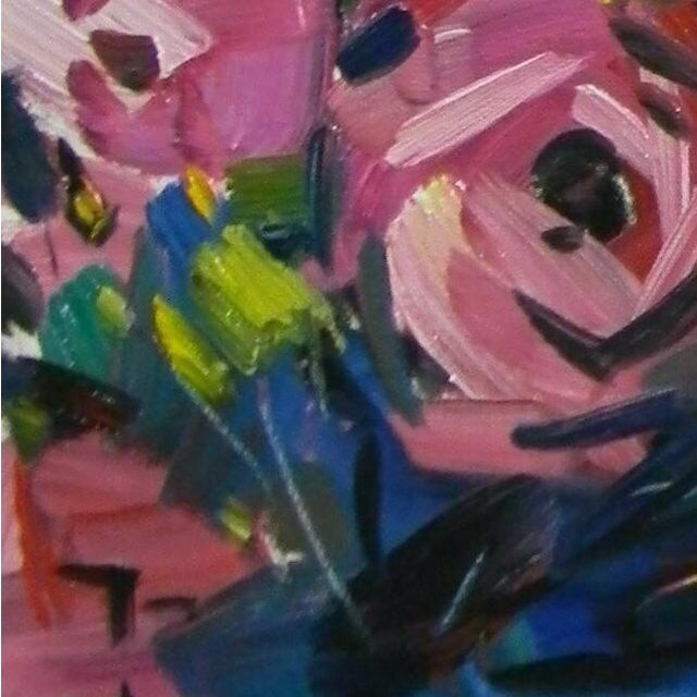 Jose Trujillo Original Flower Oil Painting For Sale - Image 4 of 4