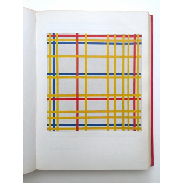 """"""" Piet Mondrian - Life and Work """" Rare Vintage 1956 1st Edtn Collector's Iconic Large Volume Lithograph Print Modernist Art Book For Sale - Image 10 of 13"""