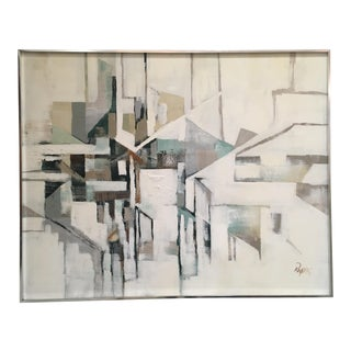 Mid Century Abstract Painting by Reynolds For Sale