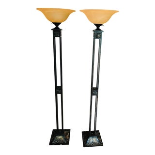 Euro Design Floor Lamps - A Pair For Sale